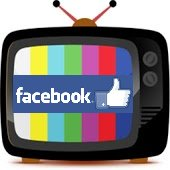 Facebook on tv screen